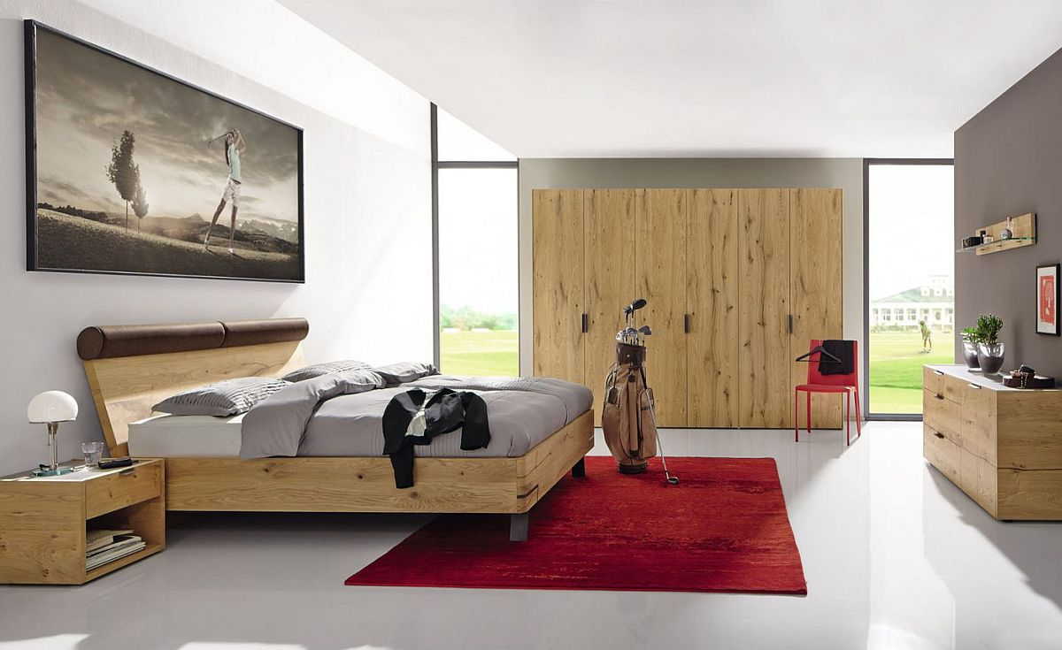 Bed-wardrobe-and-bedside-tables-in-oak-create-a-stunning-bedroom