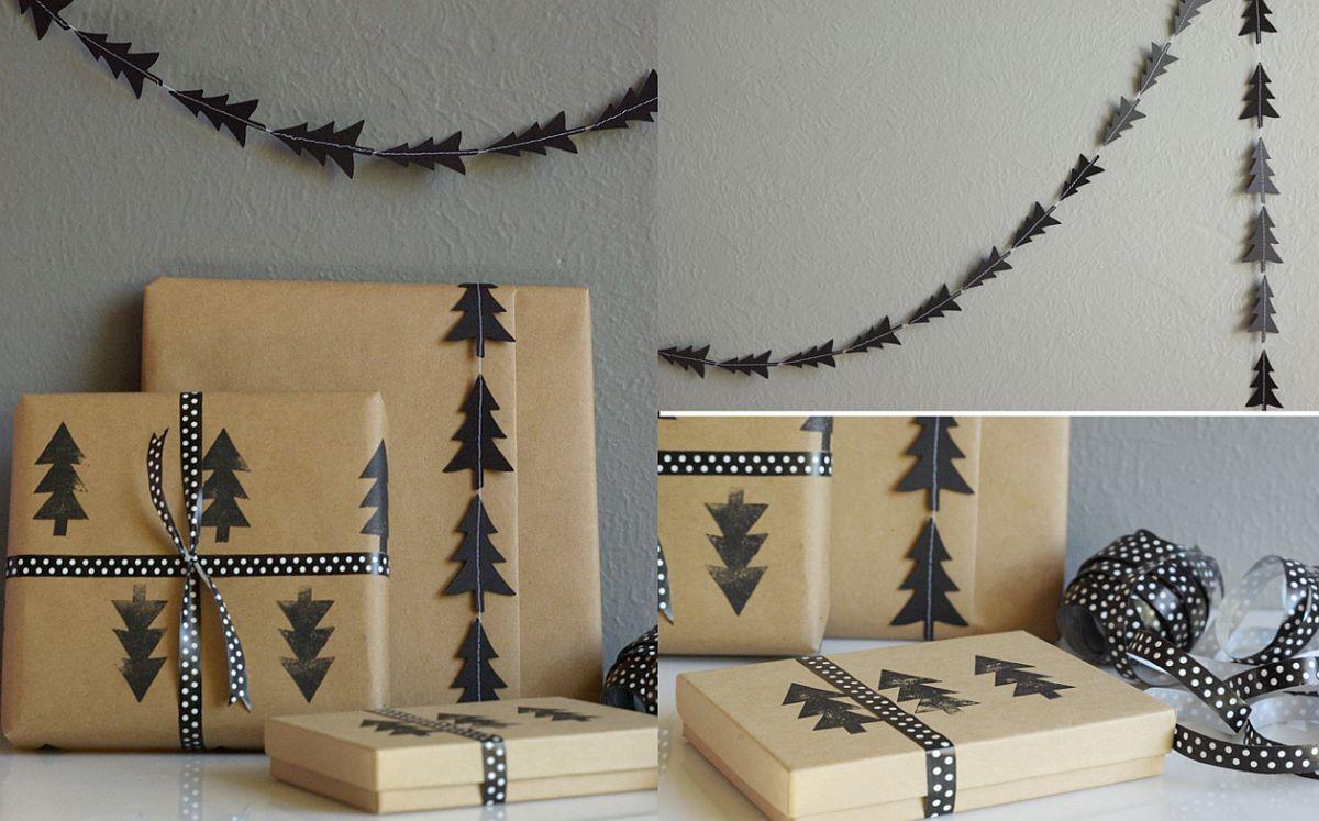 Black-tree-stamp-DIY-garland