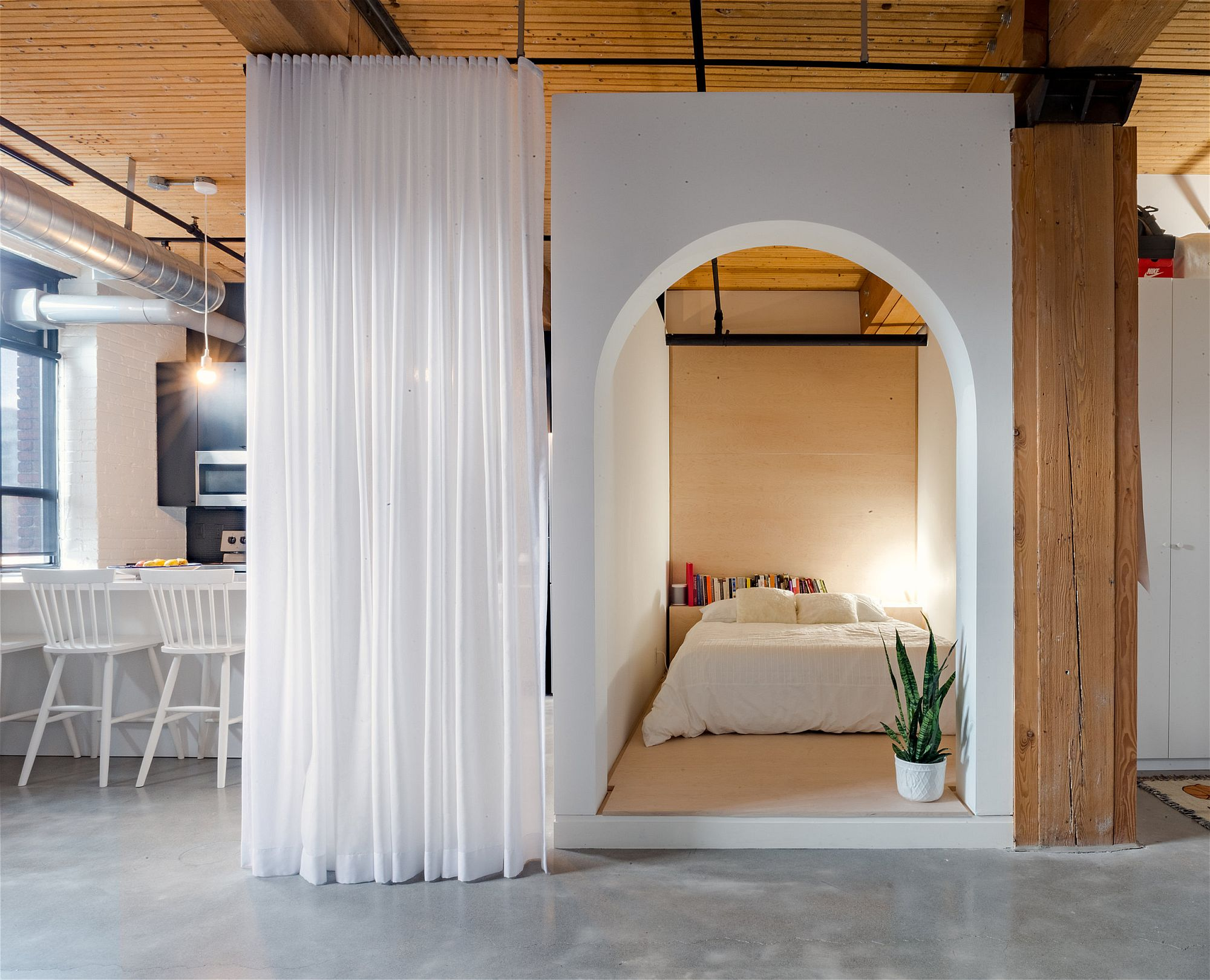 Box-styled bedroom becomes the showstopper inside the Broadview Loft