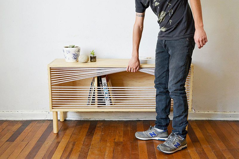 Boxing ring-inspired sideboard