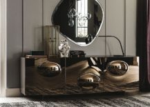 Bronze-convex-mirrored-glass-creates-a-cool-sideboard-with-plenty-of-glint-217x155