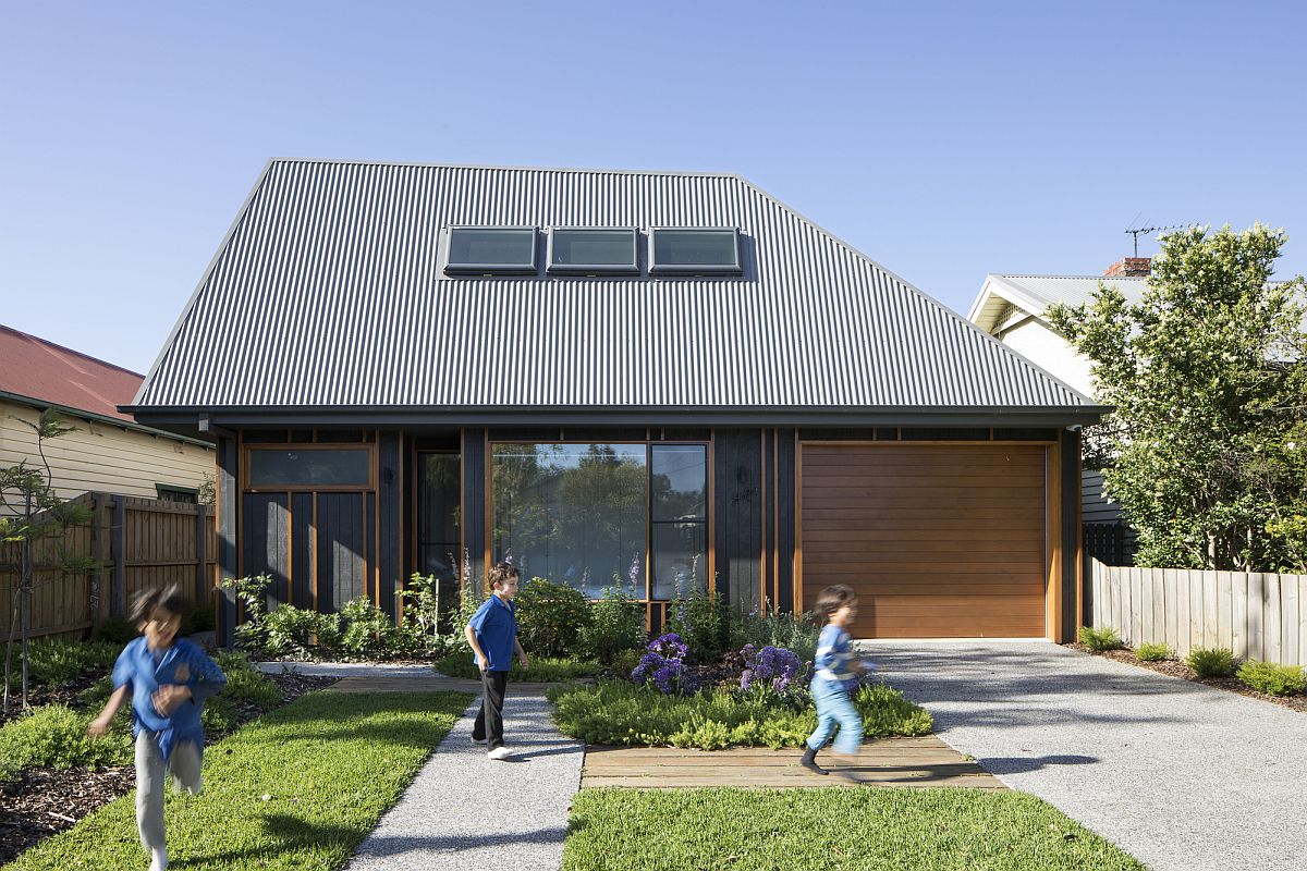 Low Cost Family Home in Melbourne's Suburb with Polished Gray Exterior