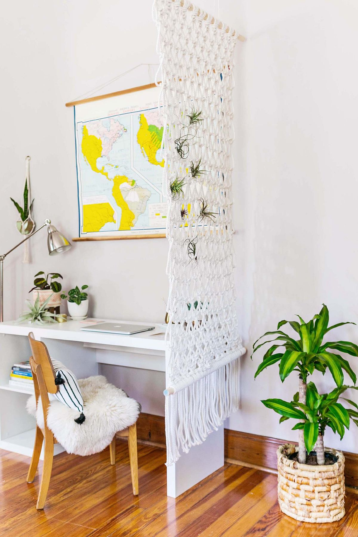 Chic DIY Macrame room divider