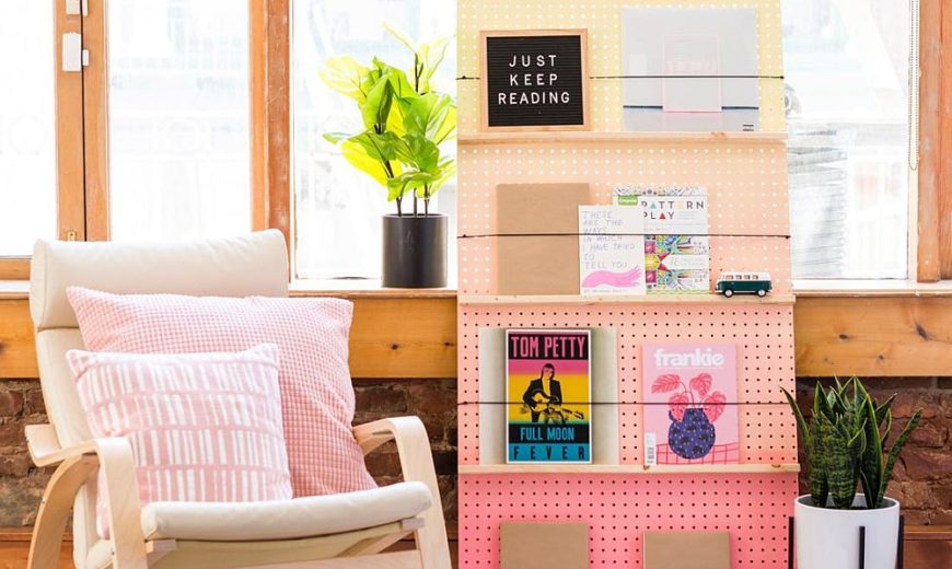 For the Style-Conspicuous Bibliophile: Modern DIY Bookshelves