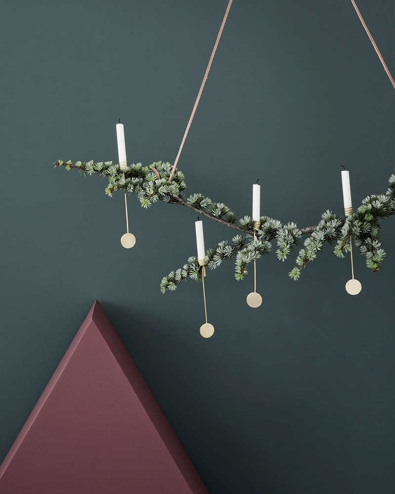 Christmas tree candle holders add modern charm