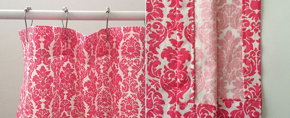Colorful Fabric Shower Curtain