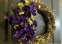 Colorful-and-brilliant-DIY-Wildflower-Wreath-217x155