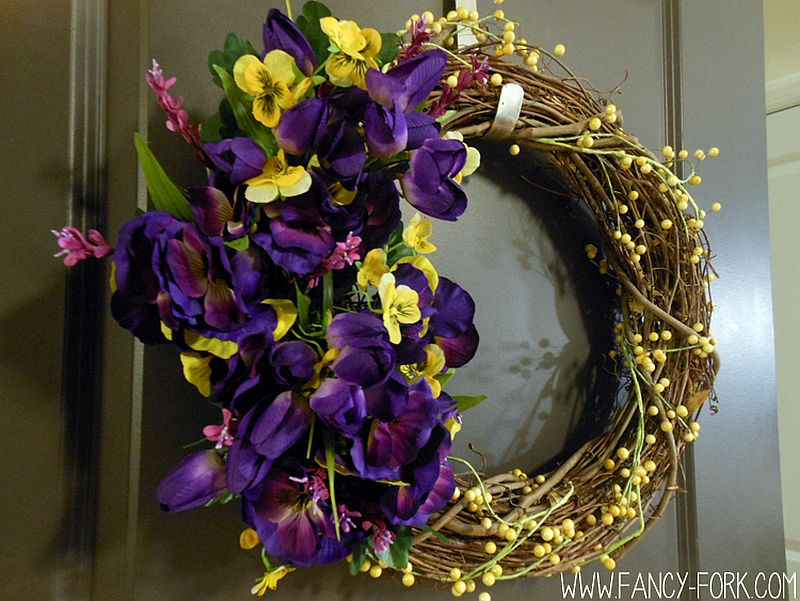Colorful-and-brilliant-DIY-Wildflower-Wreath