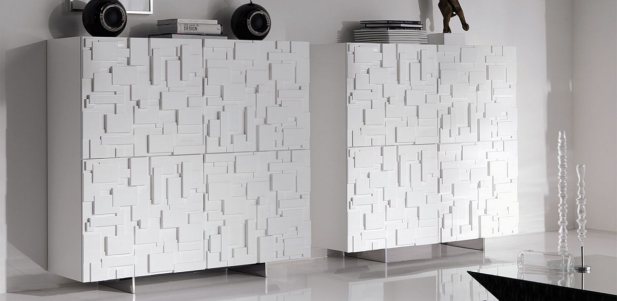 Contemporary and chic sideboard with fabulously unique finish