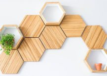Contemporary-honeycomb-wood-shelves-crafted-from-recycled-chopsticks-217x155