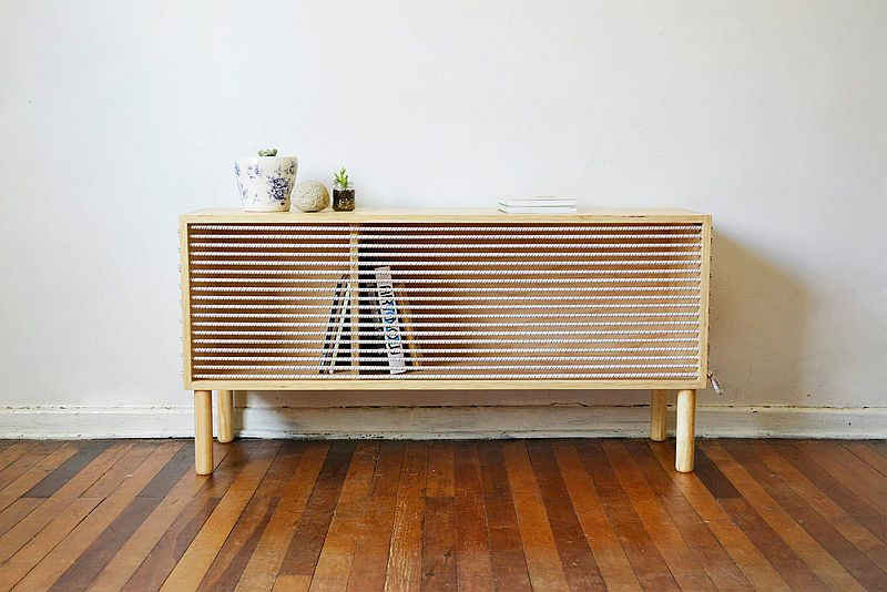 Cuerda sideboard inspired the design of boxing ring