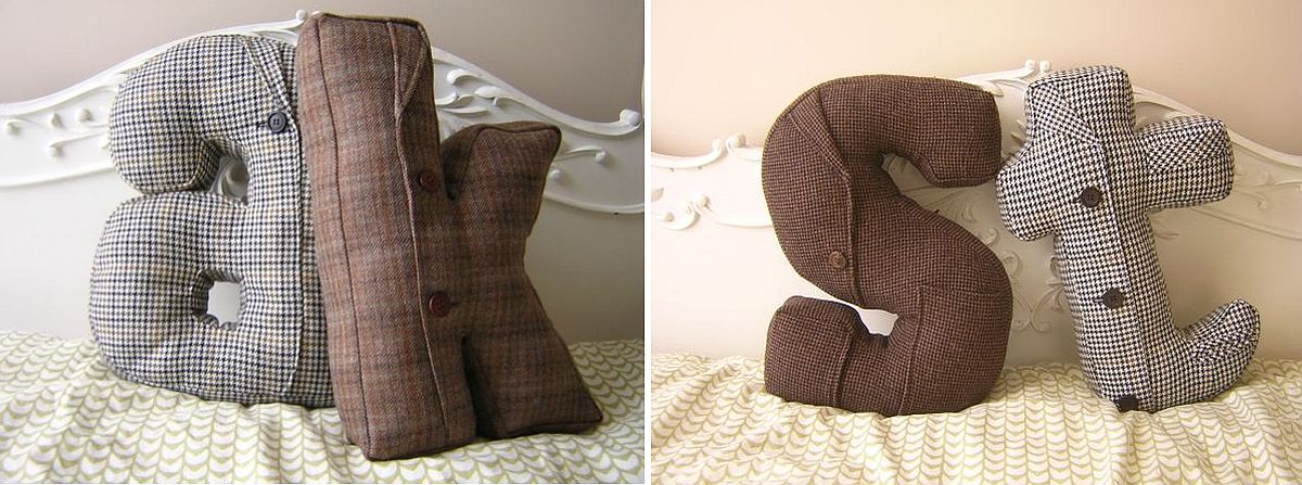 Custom alphabet DIY throw pillows