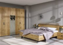 Custom-wardrobe-in-oak-complements-the-frame-of-the-bed-perfectly-217x155