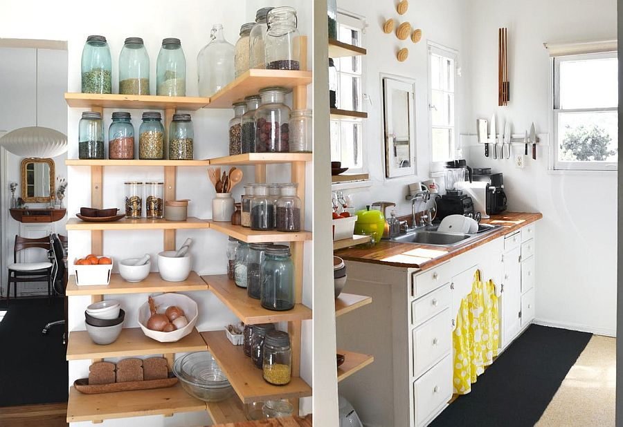 Diy Floating Shelves Kitchen Cabinets