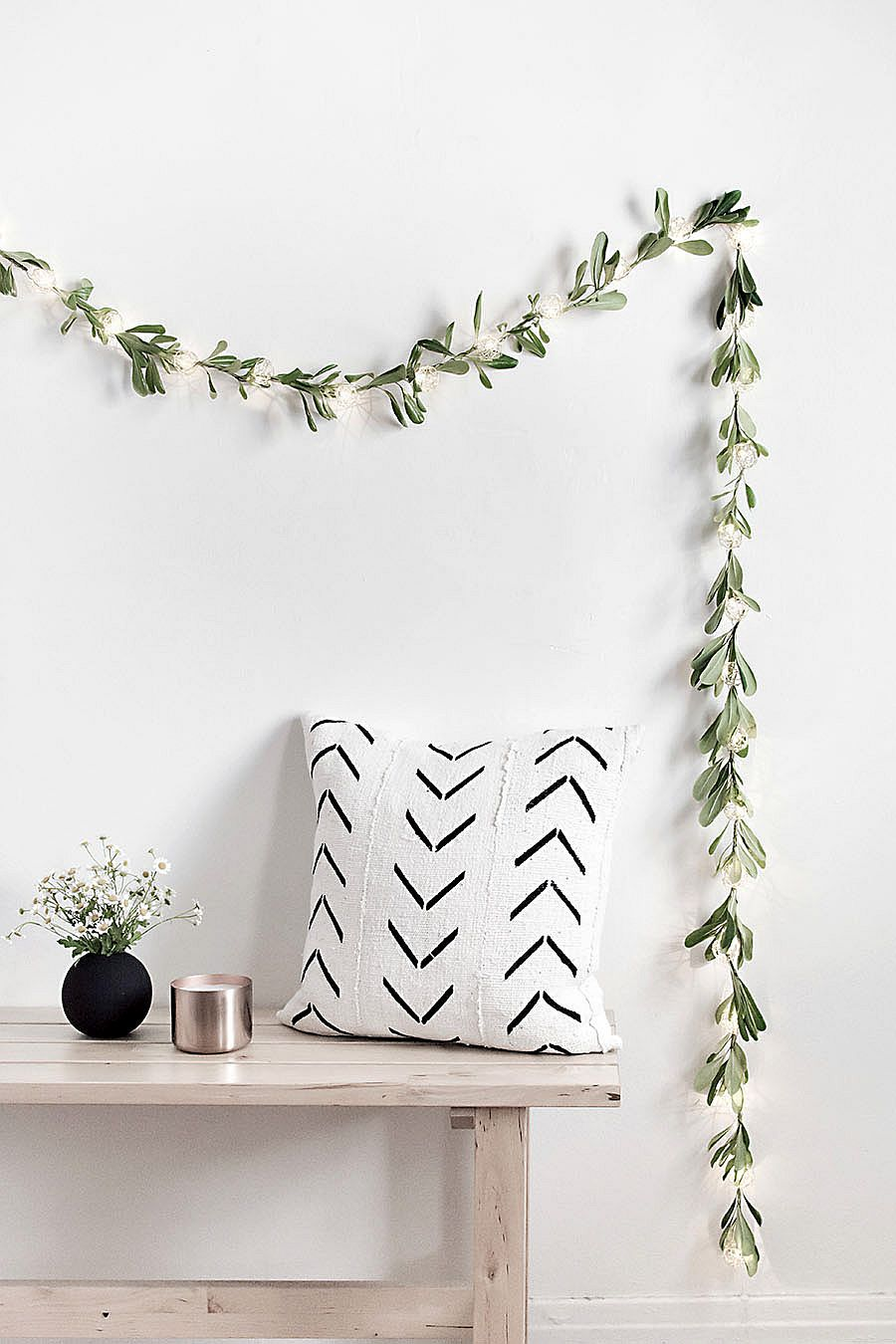 DIY String Lights Garland is both festive and understated