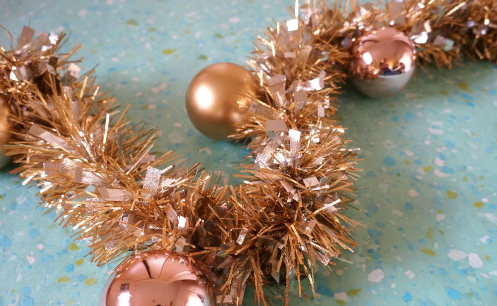 A Diy Metallic Holiday Garland