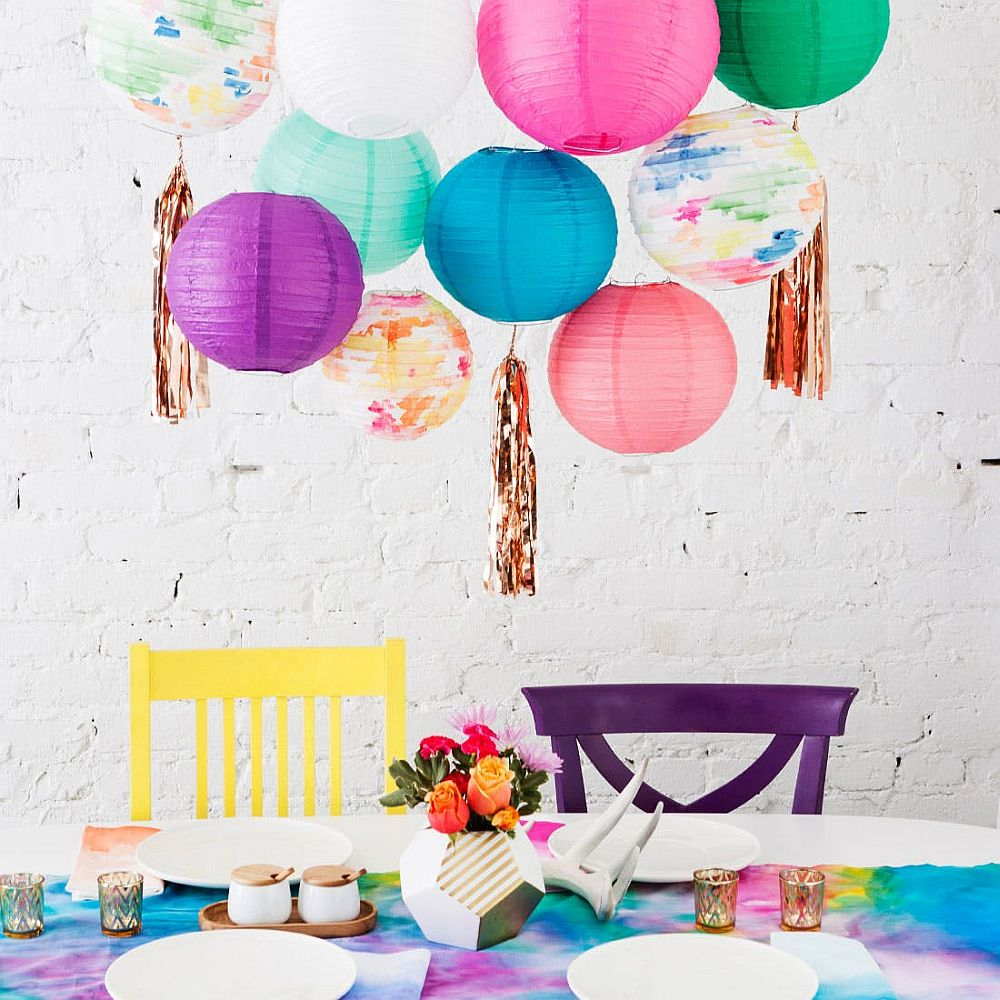 Decorating-with-multi-colored-party-lanterns