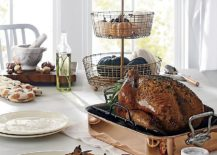 Embossed-Turkey-Dinner-Plate-along-with-a-sparkling-serving-tray-217x155