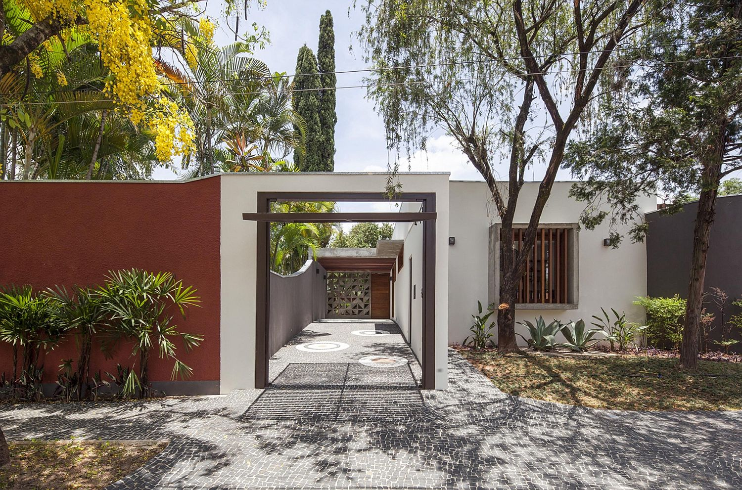 Entrance-to-the-renovated-singel-level-family-home-in-Brazil