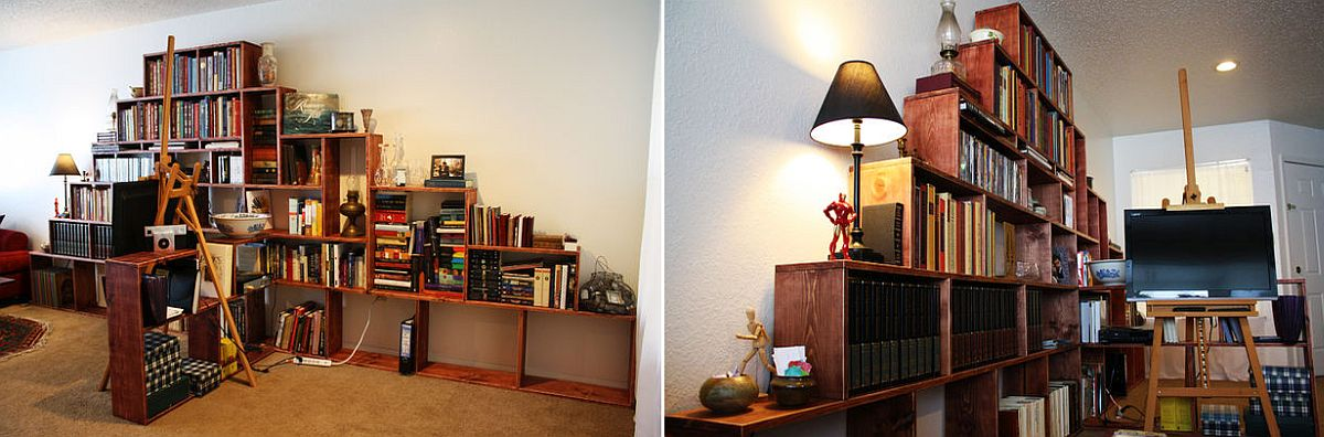 Expansive DIY Bookshelf for the living room