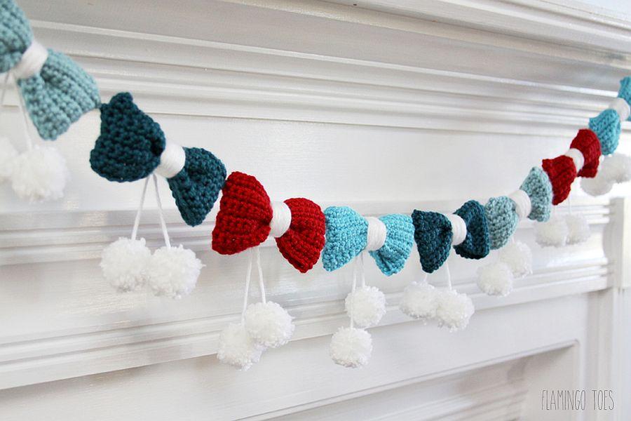 Exquisite-DIY-Pom-Poms-and-Bows-Crochet-Garland