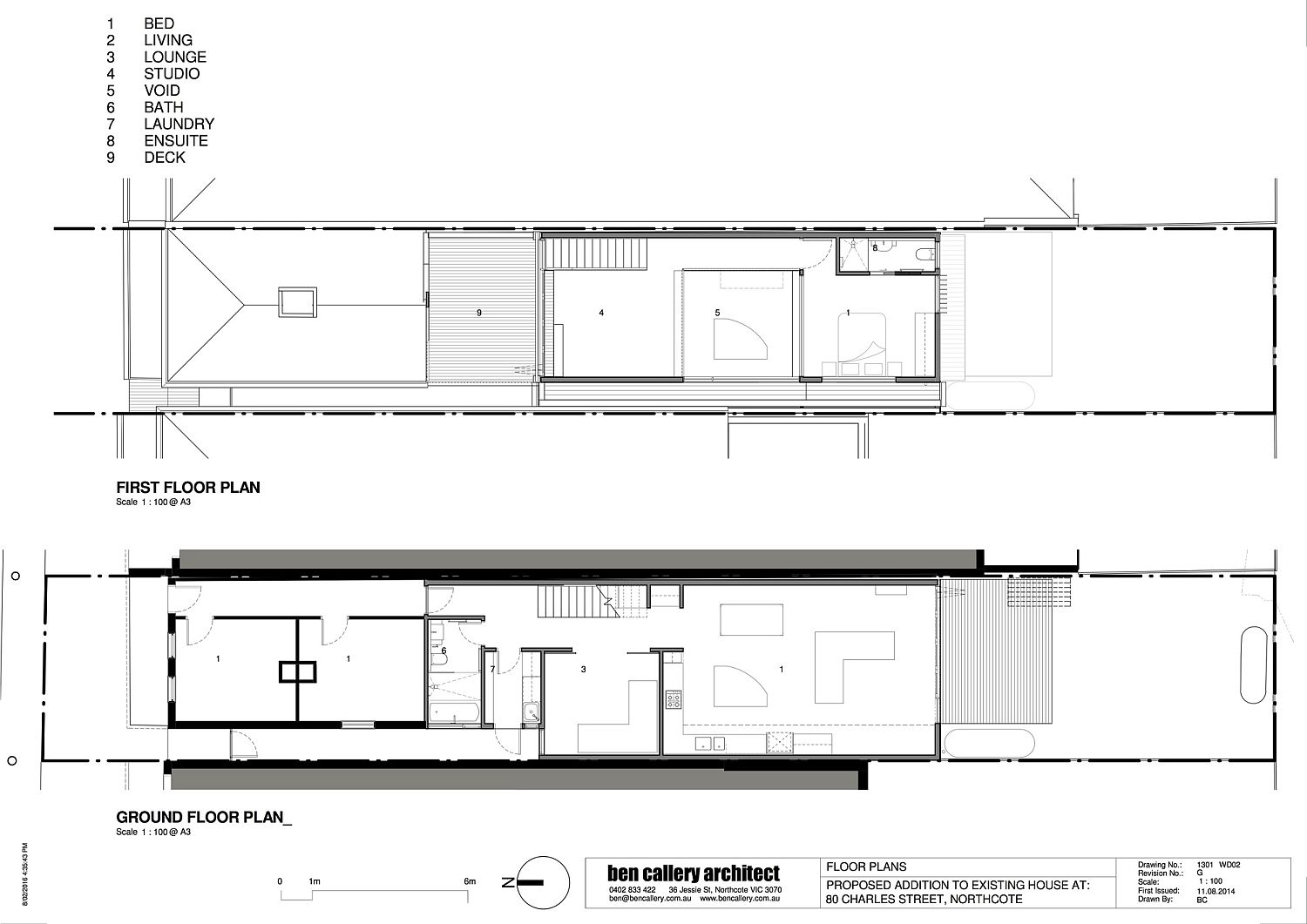 Floor Plan of Beyond House in Northcote