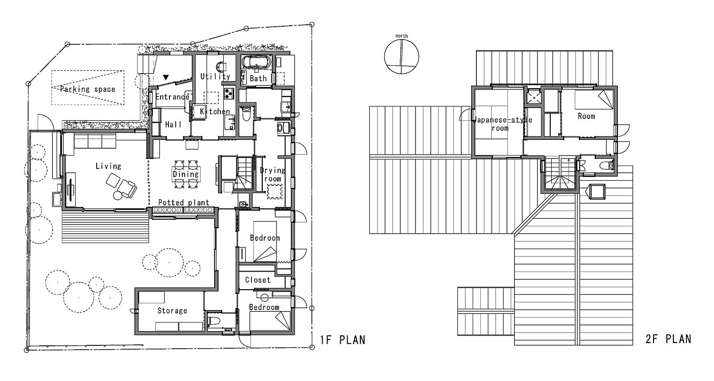 Floor plan of A Warm Final Residence in Japan