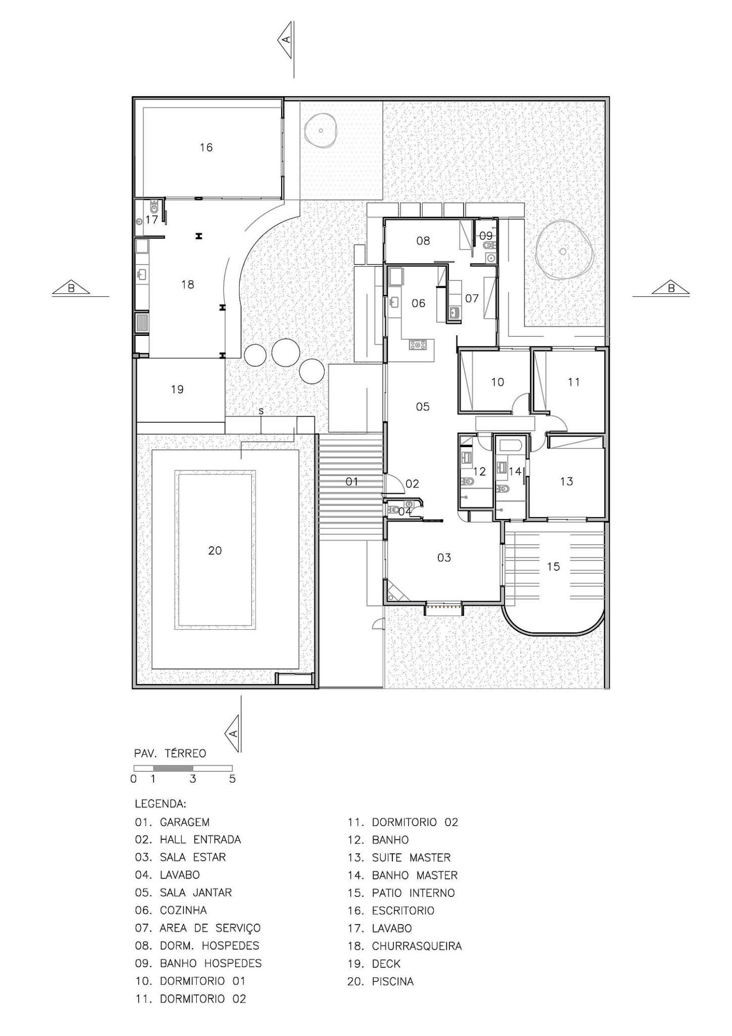 Floor plan of Barão Geraldo Residence
