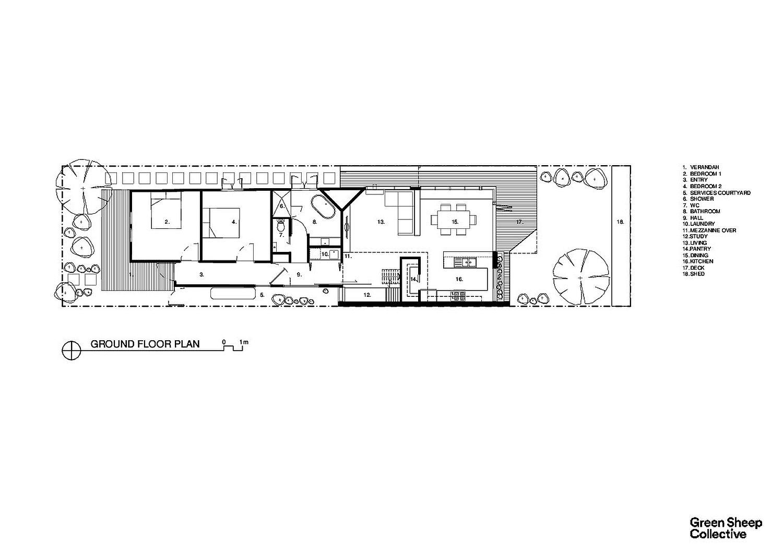 Floor plan of Smart Home in Seddon, Australia