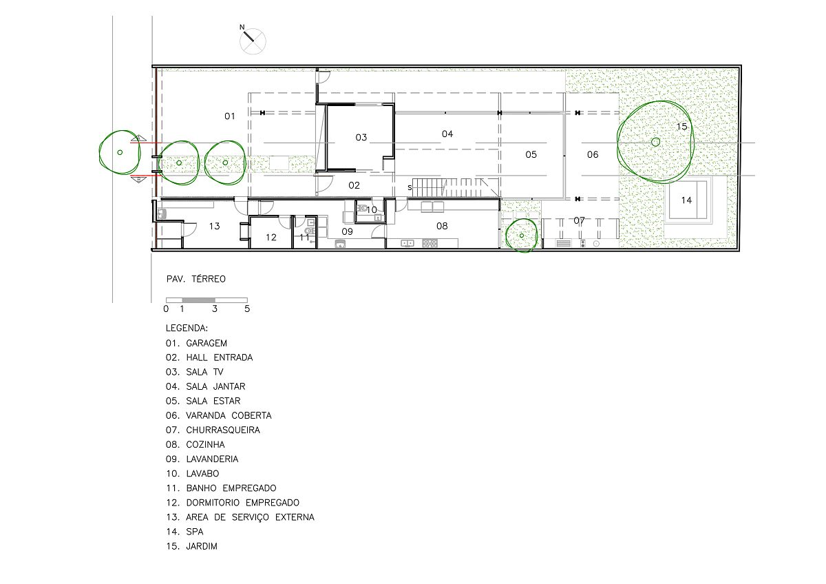 Floor plan of Vila Nova Residence in Sao Paulo