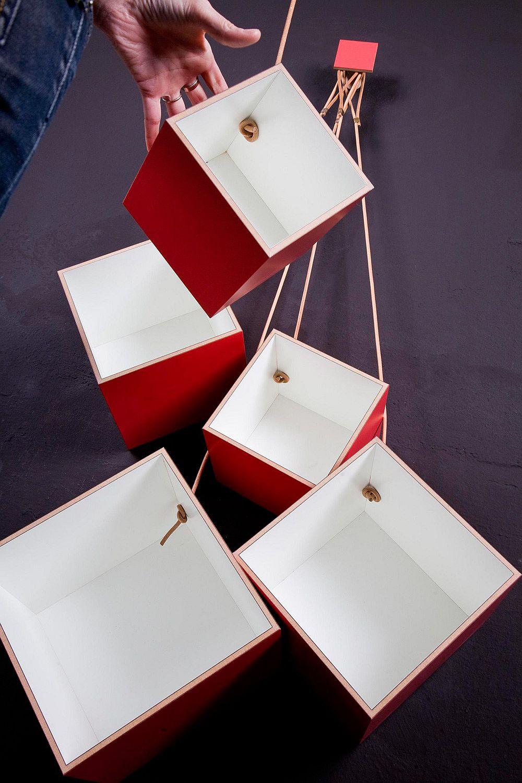 Funky and modern Box 1-7 Modular shelving