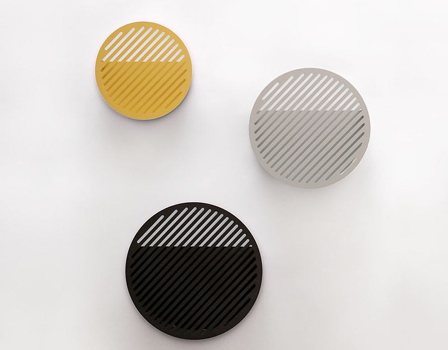 Give the minimal metallic baskets a colorful twist