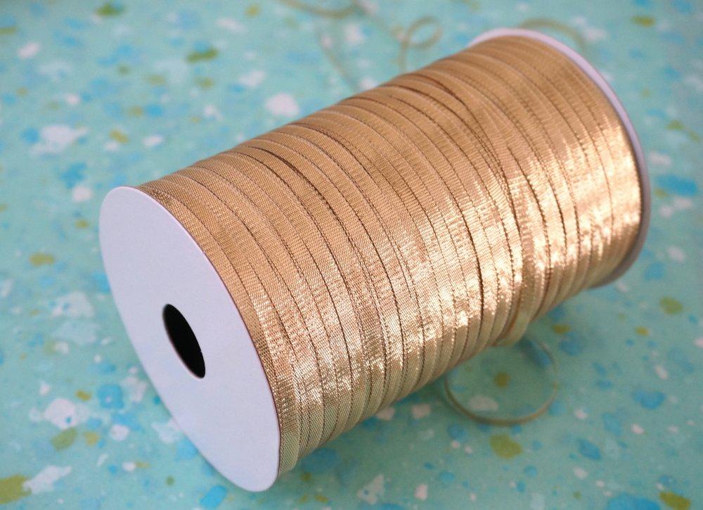 Gold holiday ribbon makes a big impact