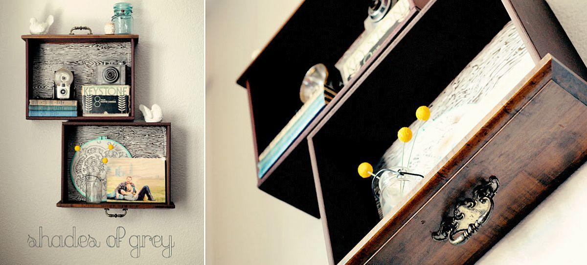Gorgeous drawer shelf DIY