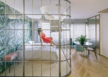 Gorgeous-curved-glass-walls-for-the-contemporary-bedroom-inside-small-apartment-217x155