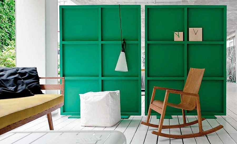 Green Moveable Room Dividers DIY Idea