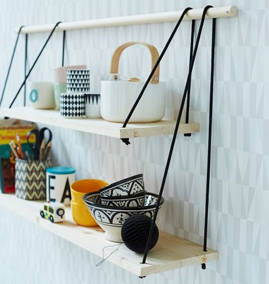 Saving Floor Space: 10 Stylish DIY Hanging Shelf Ideas- schulweg.info
