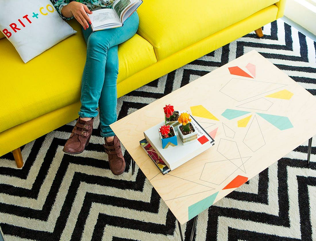 Homemade-Patterned-Coffee-Table