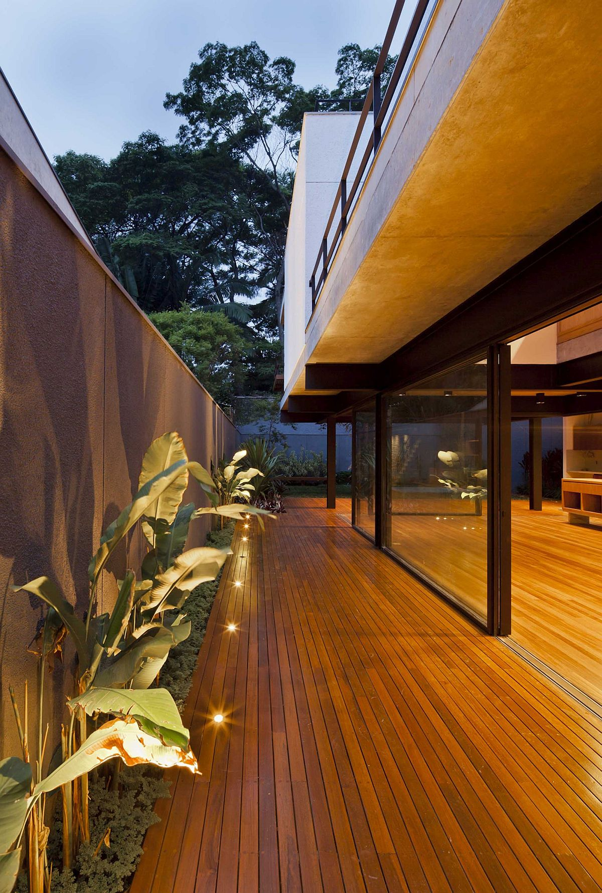 In-ground-lighting-for-the-wooden-deck-outside