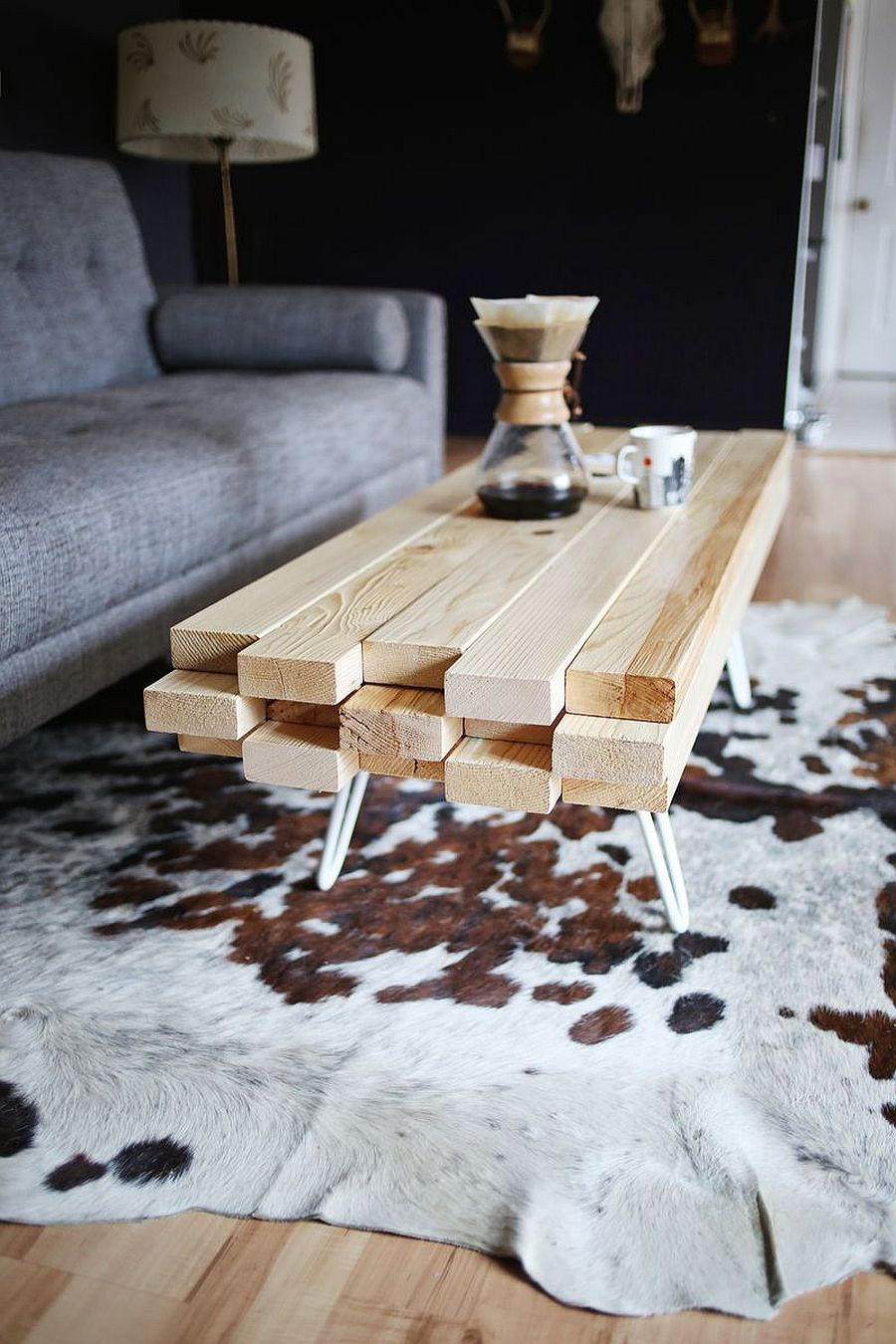 Innovative DIY wooden coffee table