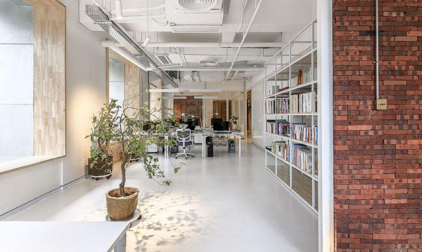 Exceptionnel Exposed Brick And Natural Greenery Bring Freshness To This Chinese Office