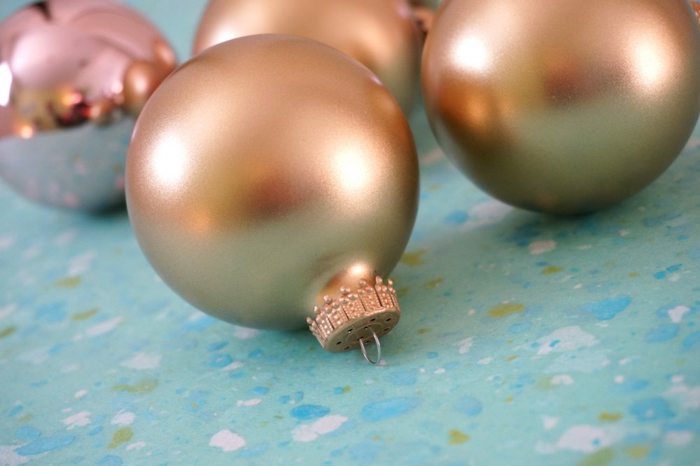 Metallic ball ornaments are the perfect embellishment