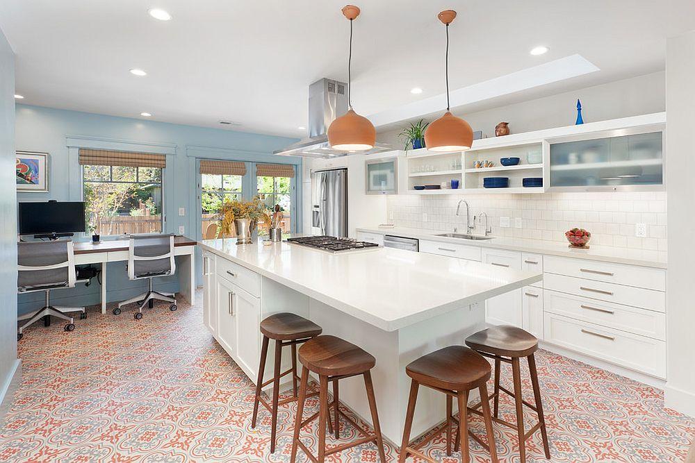 Modern-Mediterranean-kitchen-with-home-office-in-the-corner