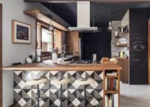 Modern-kitchen-with-chalkboard-walls-wooden-counters-and-geometric-tiles-217x155