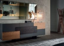 Modern-sophistication-coupled-with-wooden-inserts-for-the-sideboard-217x155