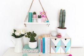 Saving Floor Space: 10 Stylish DIY Hanging Shelf Ideas