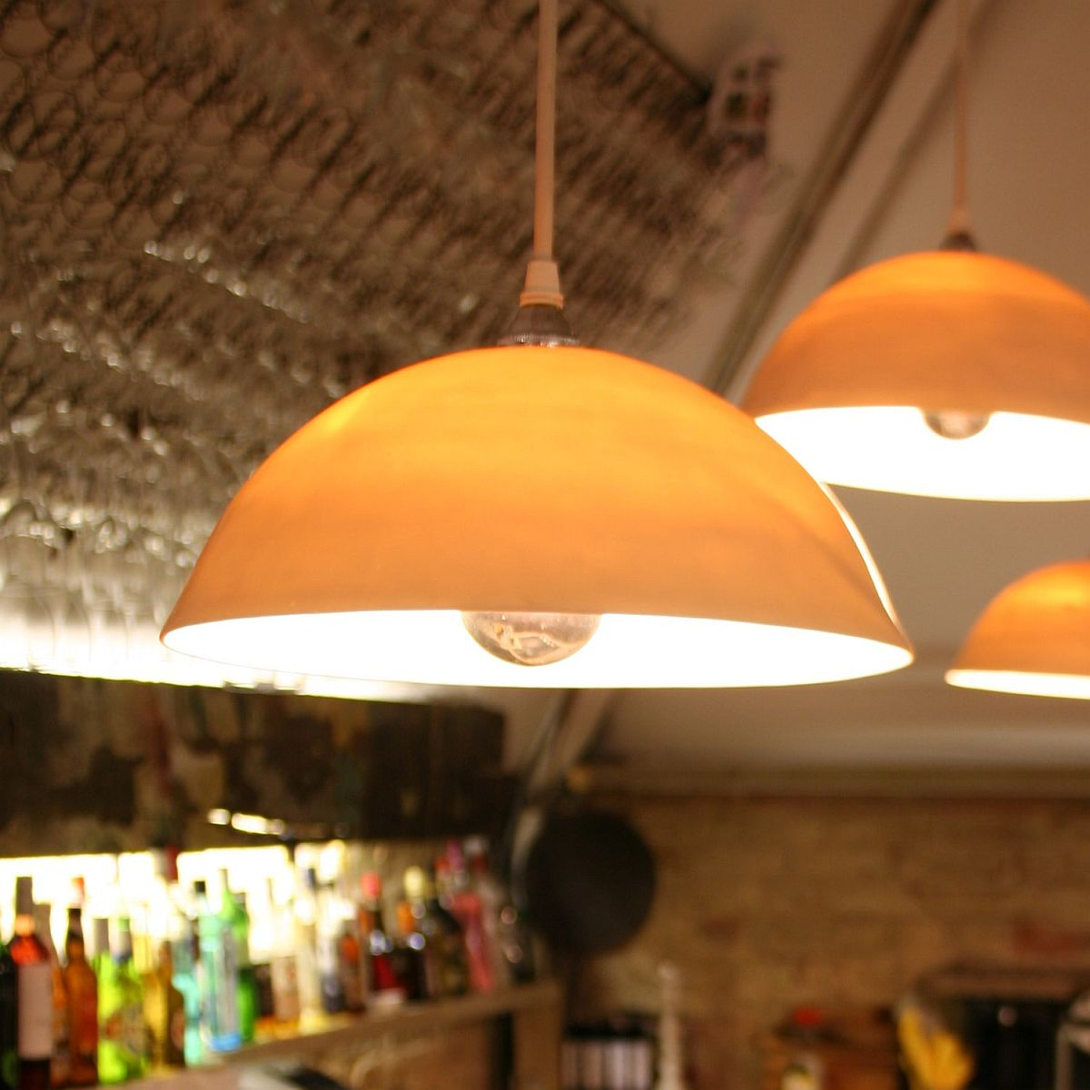 Orange Pendants For The Contemporary Kitchen: Ideas And