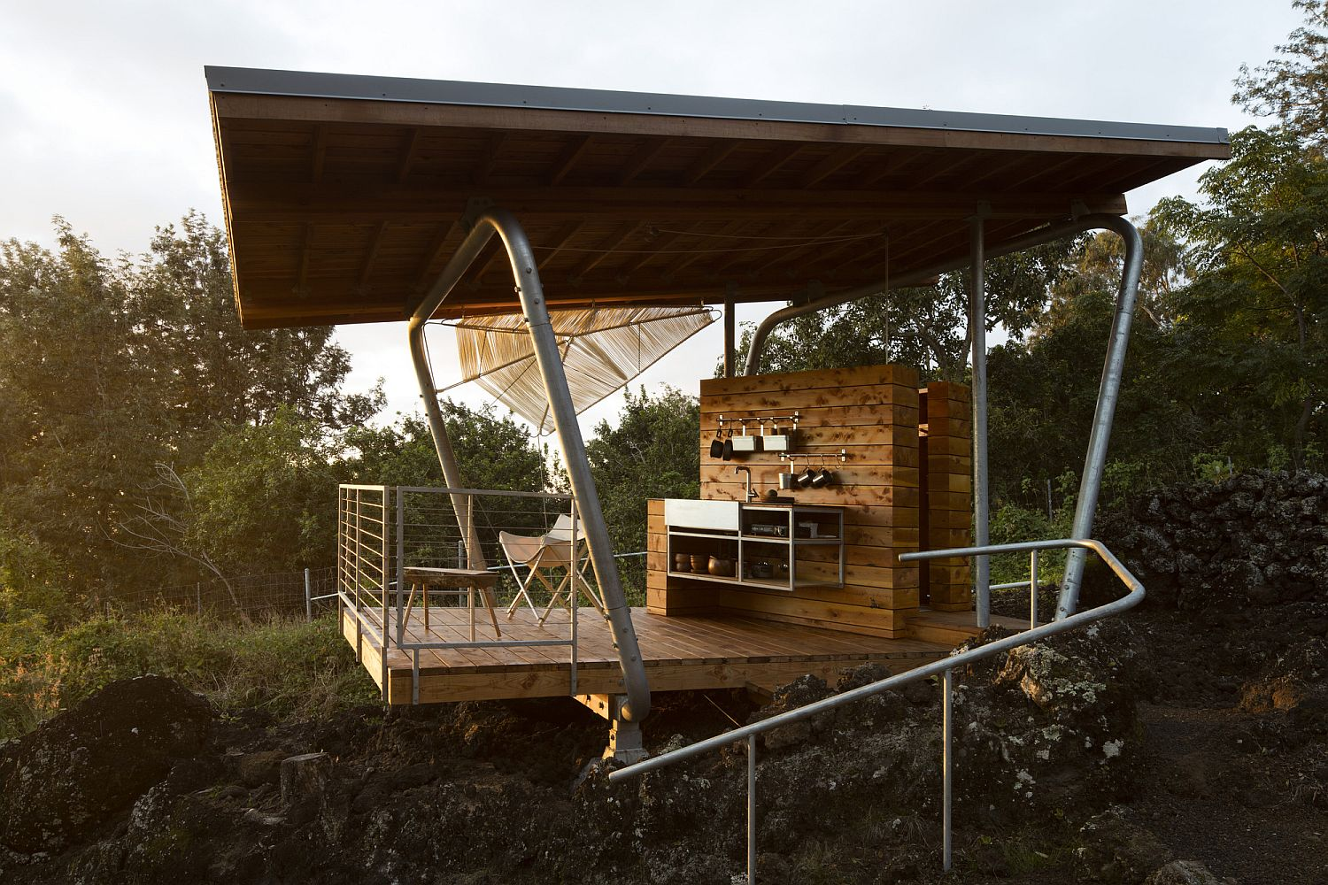 Pavilion-style-outdoor-unit-of-Outside-House-in-Maui