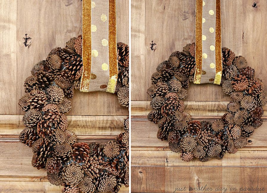 Pine-cone-wreath-combines-fall-and-winter-charm
