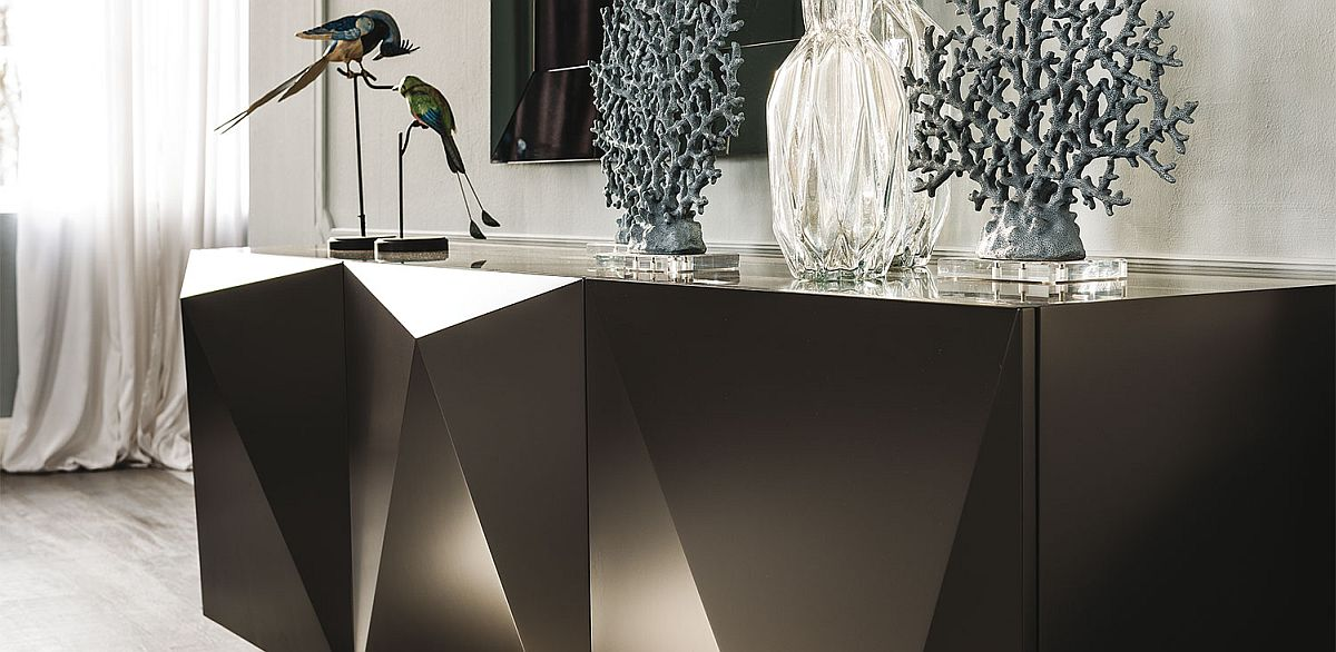 Polished and unique face of sideboard from Cattelan Italia